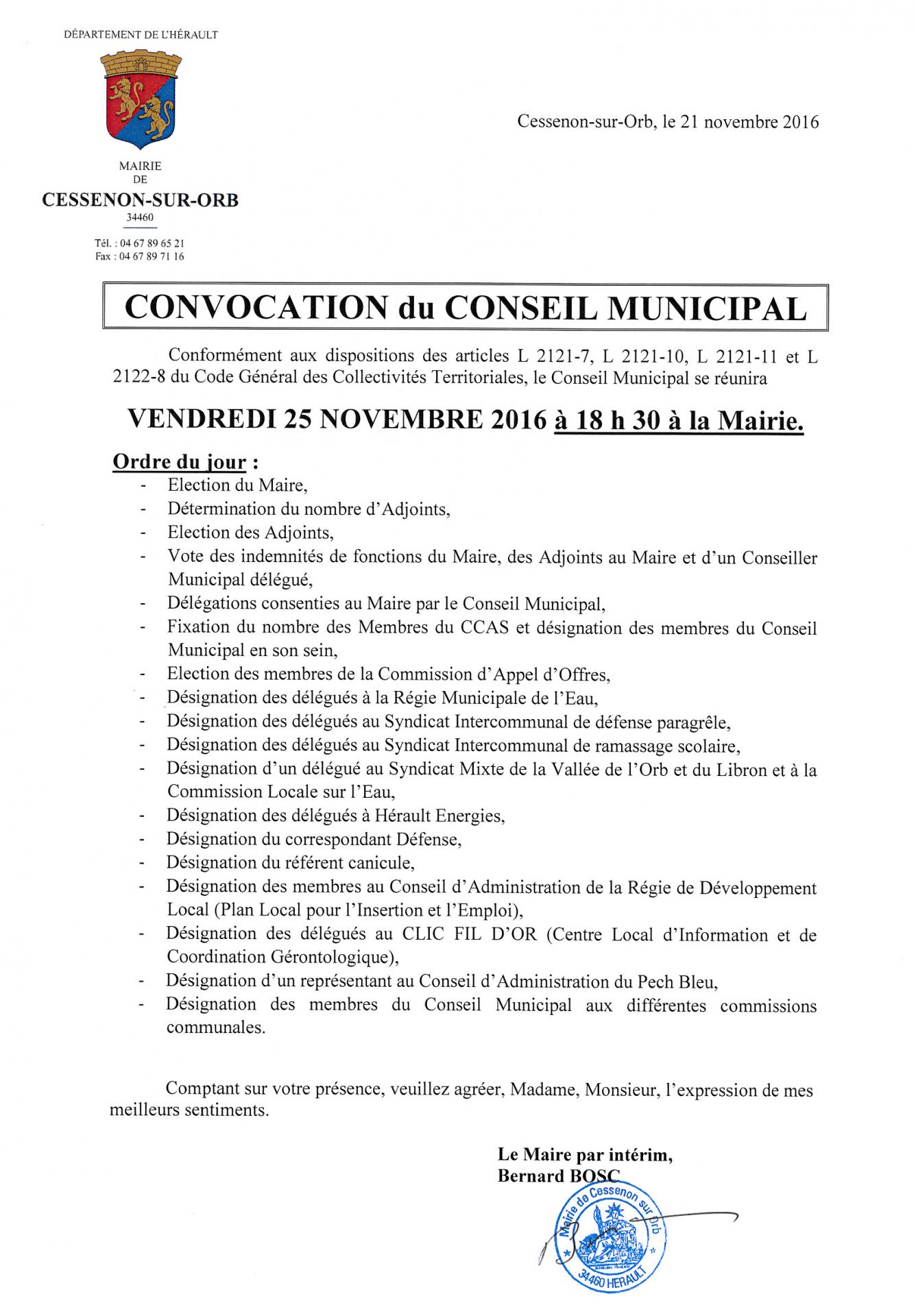 2016 11 25 conseil municipal