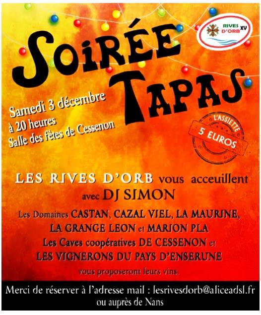 2016 12 03 soiree tapas rives d orb
