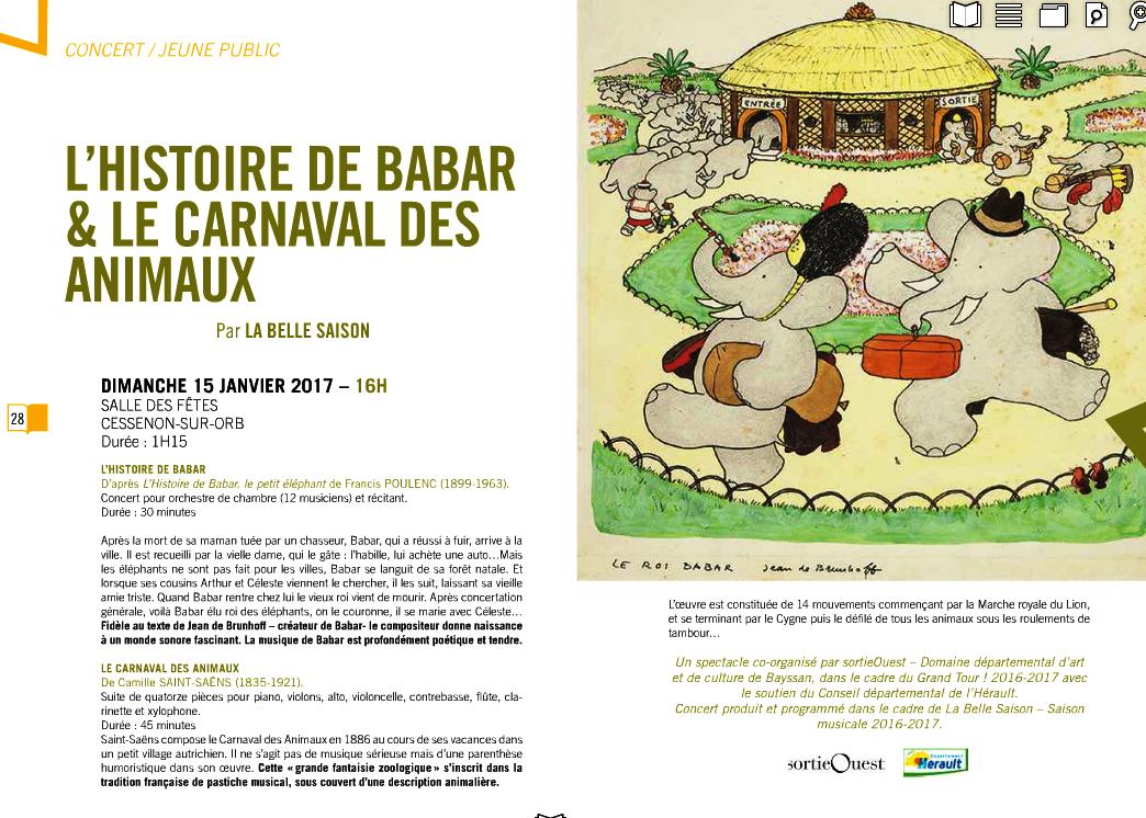 2017 01 15 l histoire de babar et le carnaval des animaux