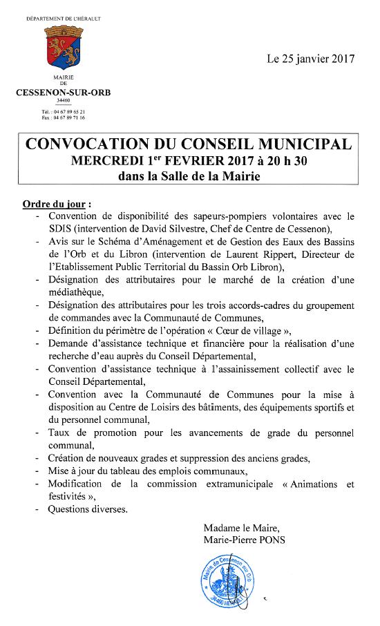 2017 02 01 conseil municipal