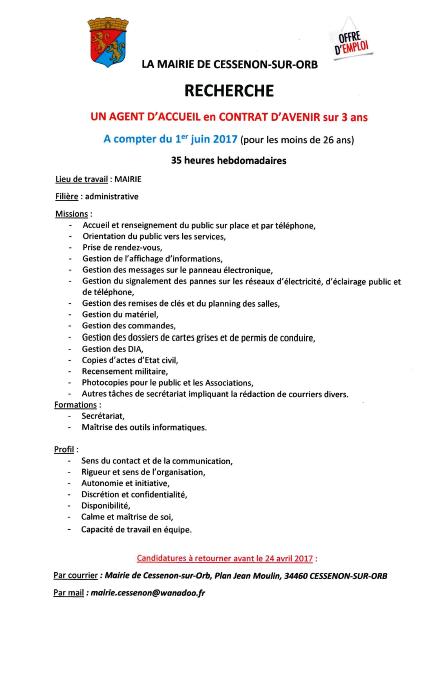 2017 03 30 agent accueil mairie