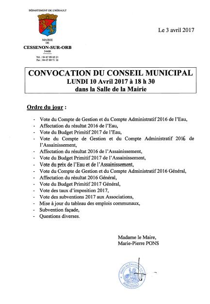 2017 04 10 conseil municipal