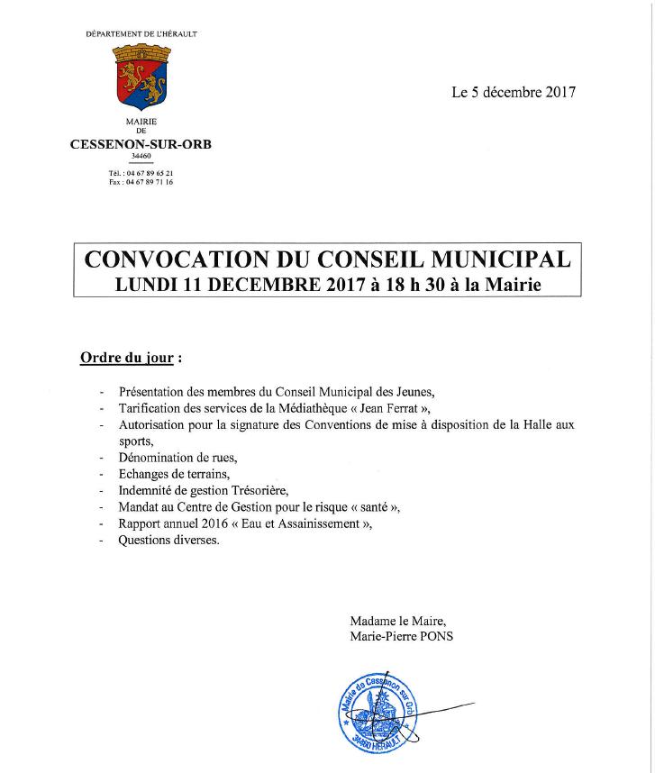 2017 12 11 conseil municipal