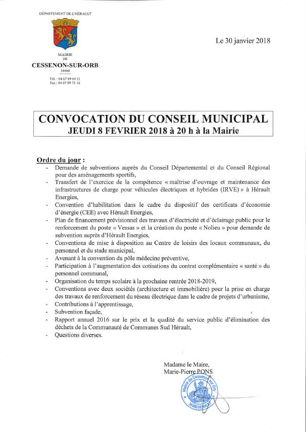 2018 02 08 conseil municipal