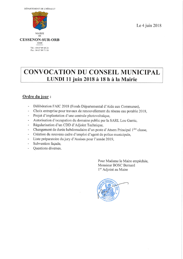 2018 06 11 conseil municipal