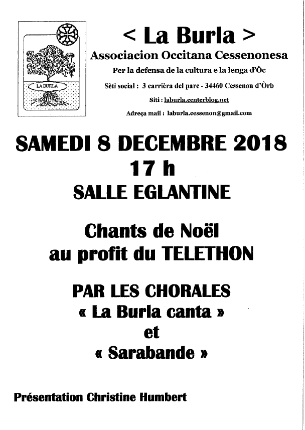 2018 12 08 chants de noel telethon