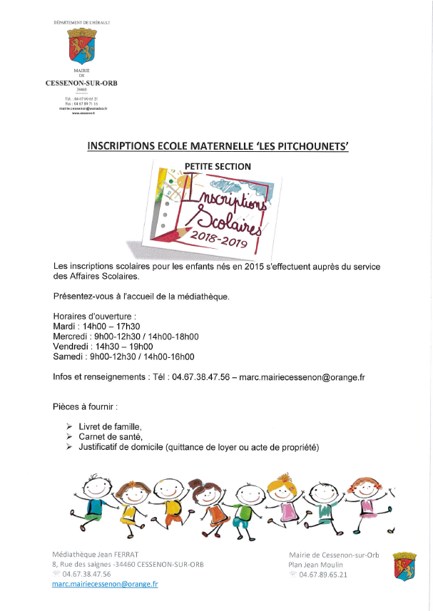 Inscription ecole