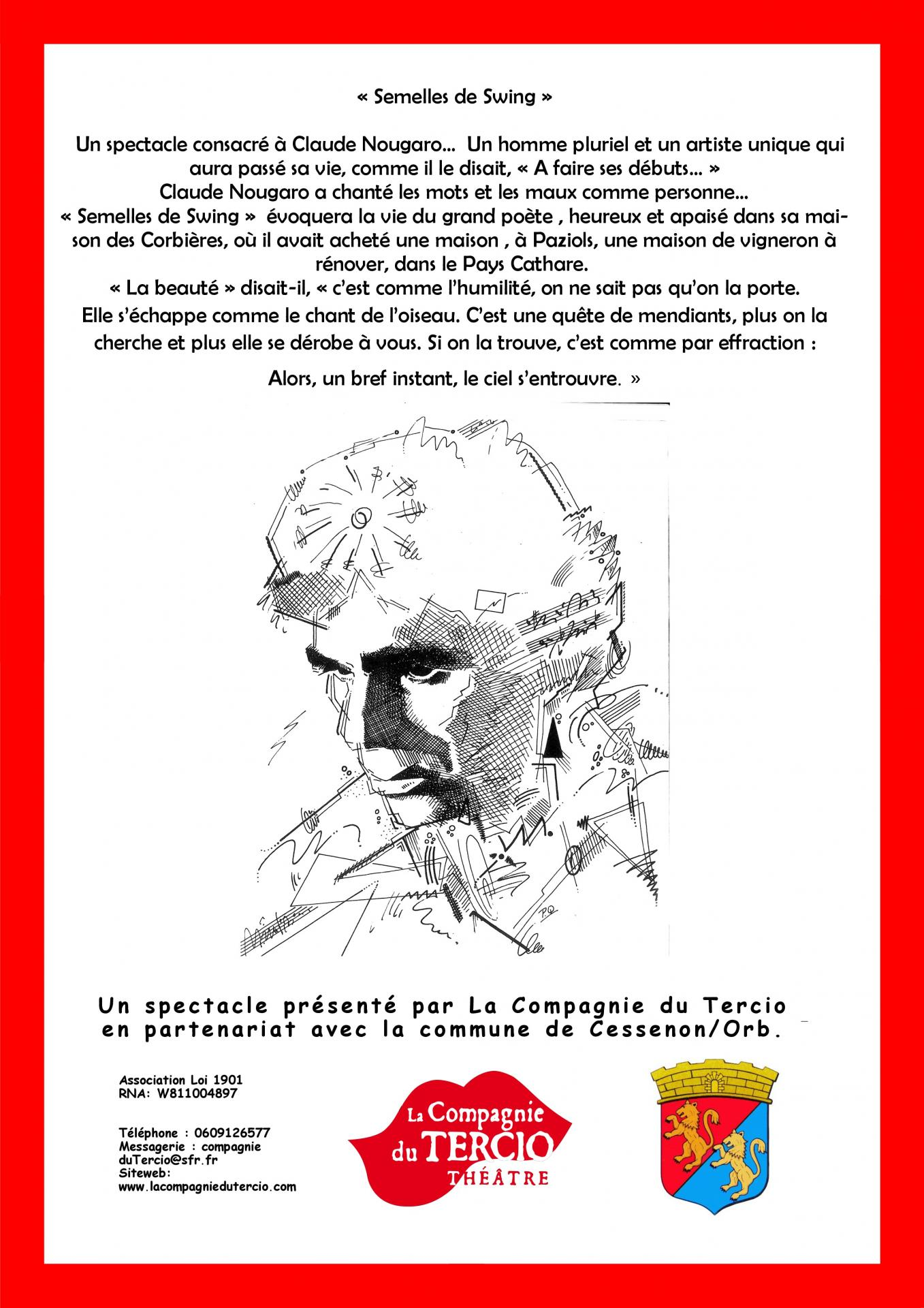 Verso affiche semelles swing pitch logo mairie cessenon