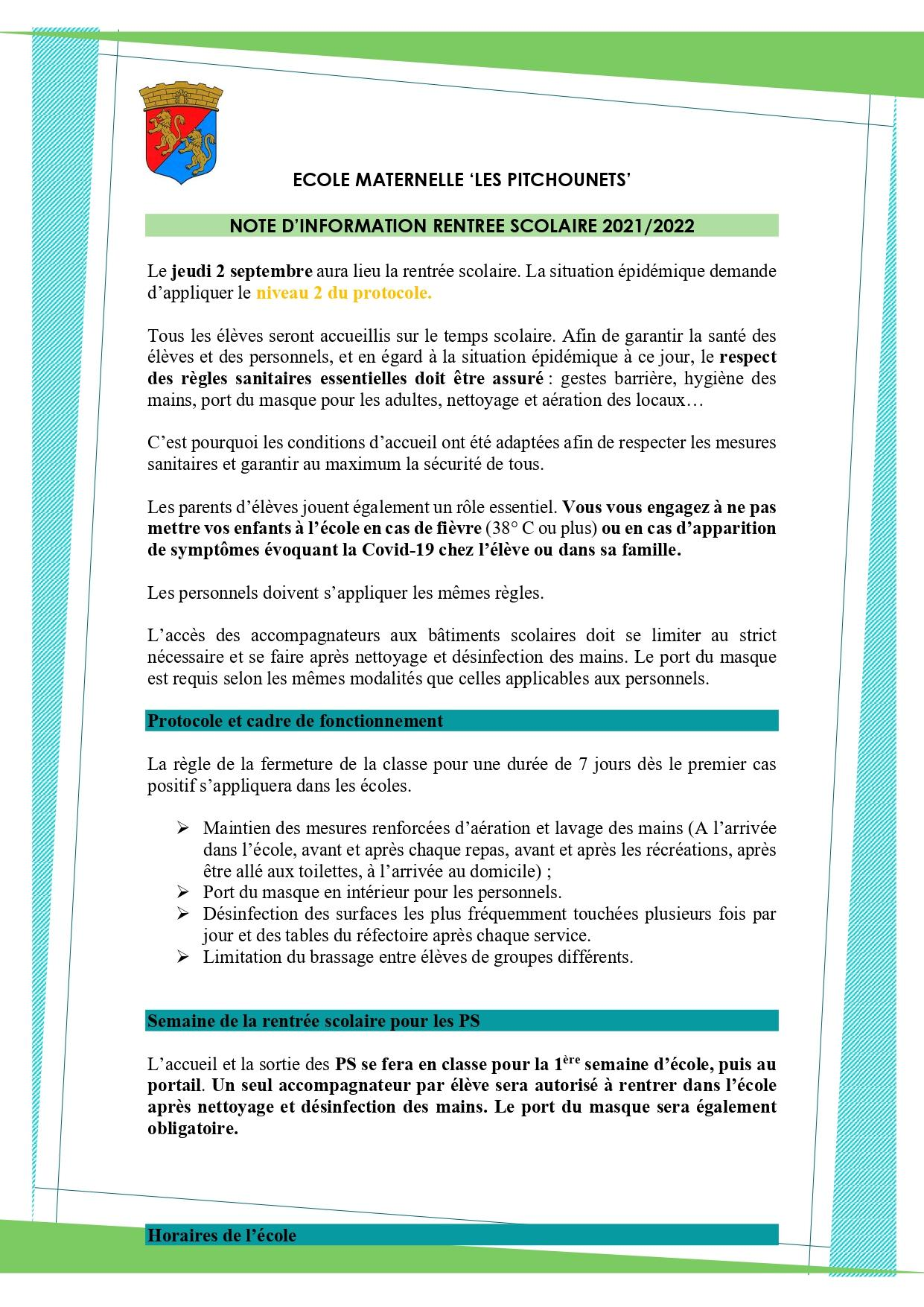 2021 09 01 note d information rentree scolaire maternelle page 0001