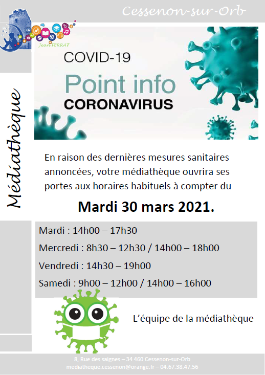 Affiche changement horaires mars 2021