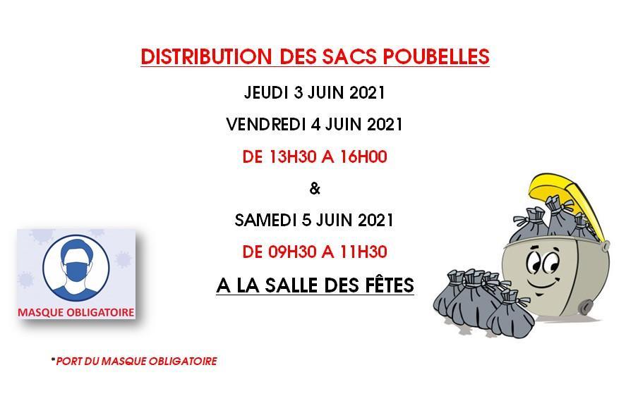 Distribution sacs poubelles